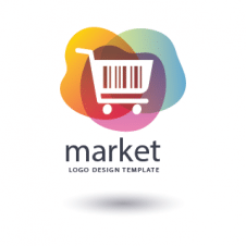 Colorful Market Logo Vector images
