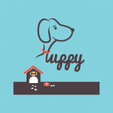 Puppy House Logo Vector images