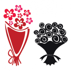 Bouquet Logo Vector images