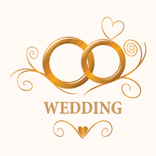 Wedding Logo Vector images