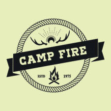 Campfire Logo Vector images
