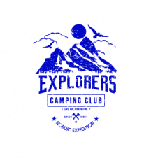 Camping Club Explorer Logo Vector images