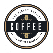 Coffee Flat Sketch Royal Logo Vector images