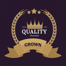 Crown Logo Vector Dark Golden images