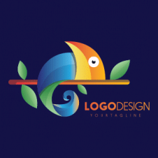 Fish Modern Colored Logo Vector images