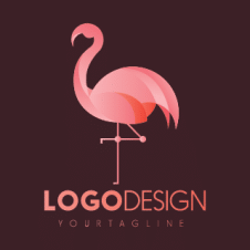 Flamingo Bird Flat Logo Vector images