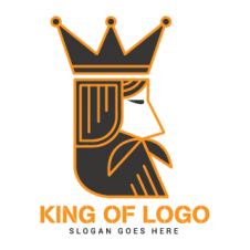King Head Logo Vector images