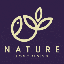 Nature Flat Sketch Logo Vector images