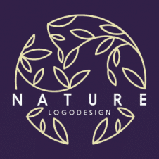 Nature Leaf Circle Logo Vector images