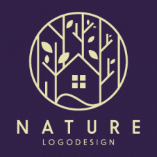 Nature Tree House Logo Vector images