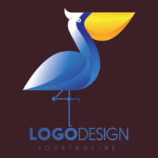 Pelican 3d Drawing Logo Vector images