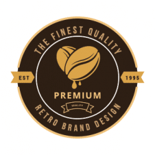 Premium Royal Coffee Flat Logo Vector images