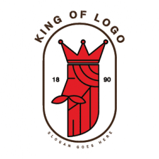 Red King Head Logo Vector images