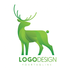 Reindeer 3d Drawing Logo Vector images