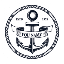 Sailing Anchor Logo Vector images