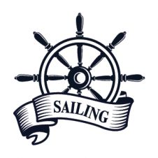 Sea Sailing Boat Logo Vector images