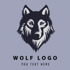 Wolf Silhouette Logo Vector images