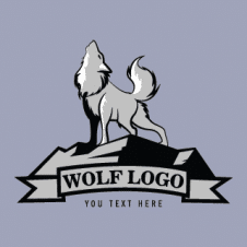 Wolf Silhouette Logo Vector Design images