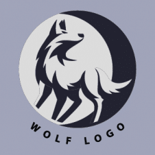 Wolf Silhouette Vector Logo images
